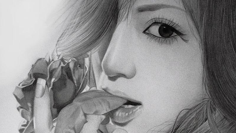 Desenho Realista de Mulher feito à Lápis - AYU - ROSE - Por klsadako - Index