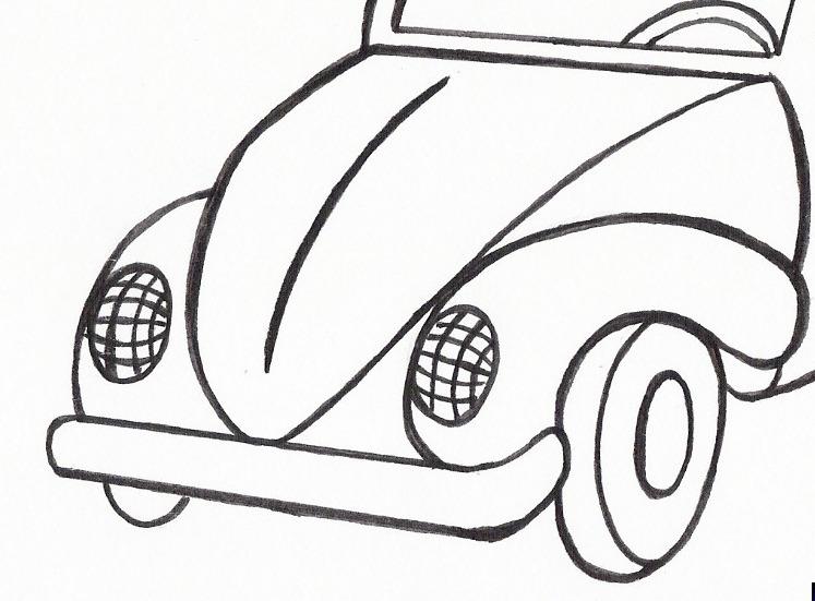 Desenho de um Fusca Topo