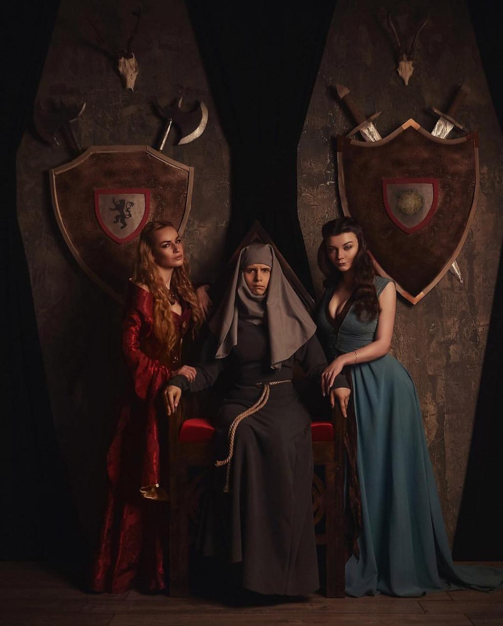 Game of Thrones - Cosplays de Cersei, Septã Unella e Margaery