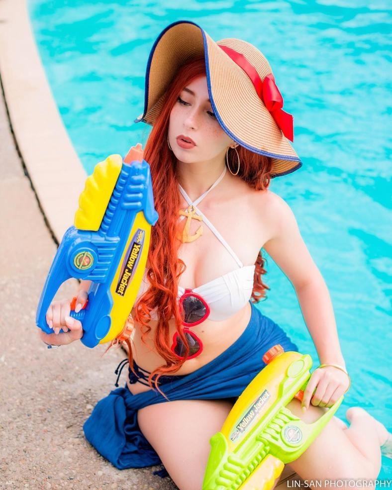 Miss Fortune Curtindo o Verão - League of Legends Cosplay - LoL 05