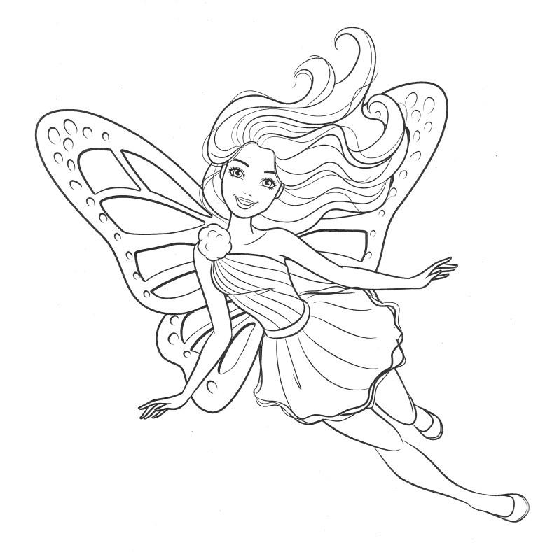 Barbie Fada - Lindo desenho pra colorir, pintar e imprimir - Atividade para crianças - 03