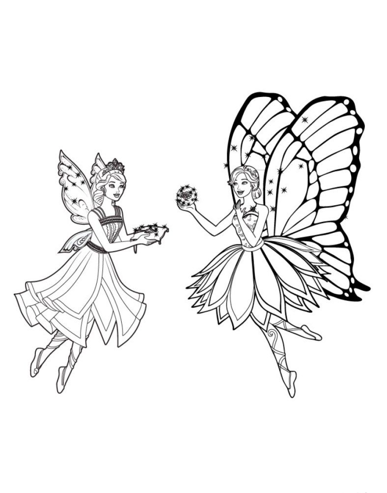 Barbie Fada - Lindo desenho pra colorir, pintar e imprimir - Atividade para crianças - 06