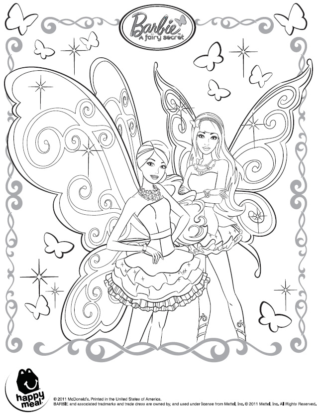 Barbie Fada e Bailarina - Desenhos pra pintar, colorir, imprimir e preencher - Artes e Lápis de Cor