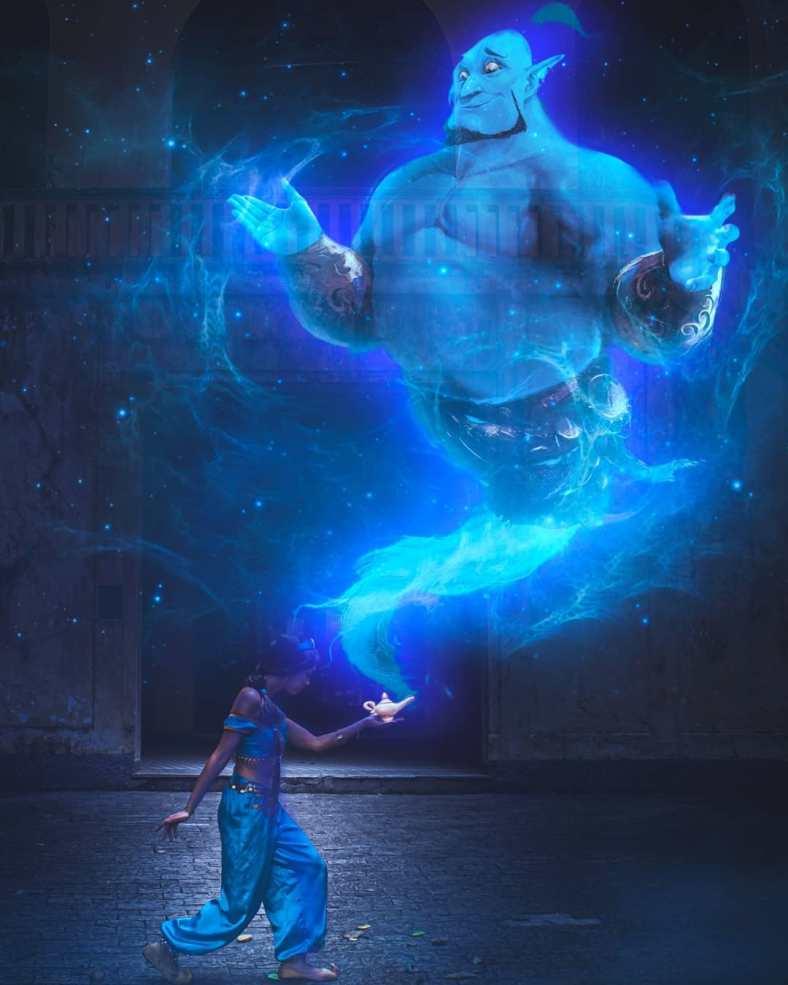 Arte Digital Cosplay da Jasmine, de Aladdin - 02