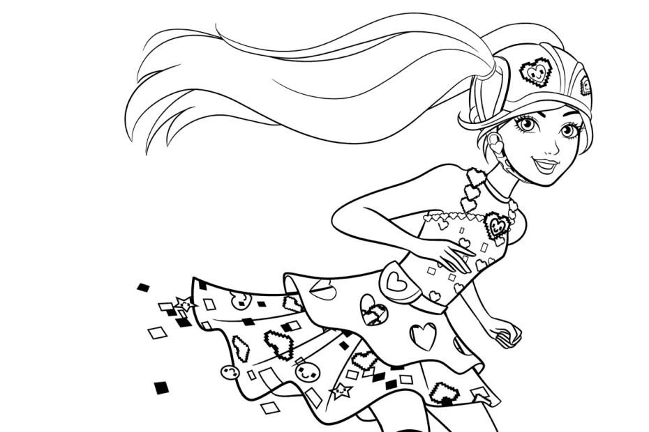 Barbie com Patins - Desenho pra colorir - Capa