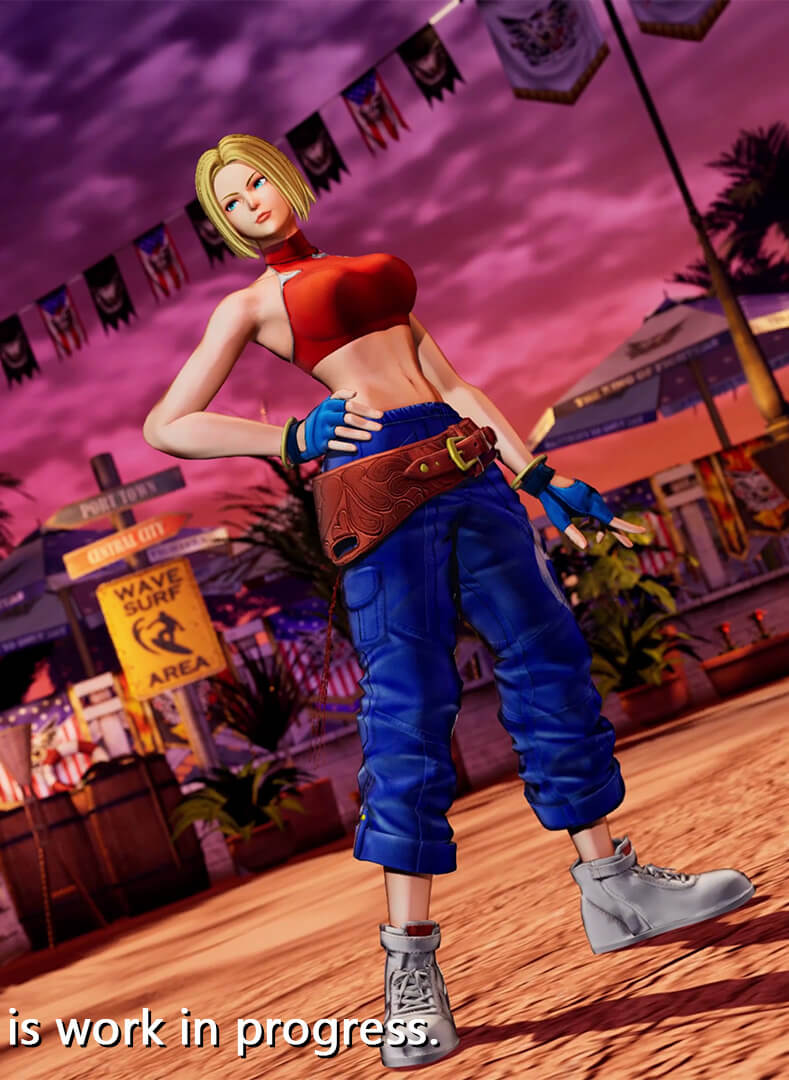 Blue Mary em The King of Fighters XV - Stories 02