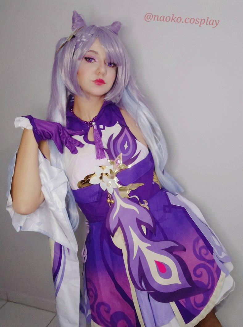 Lindo cosplay da Keqing, de Genshin Impact - Naoko Cosplay 02