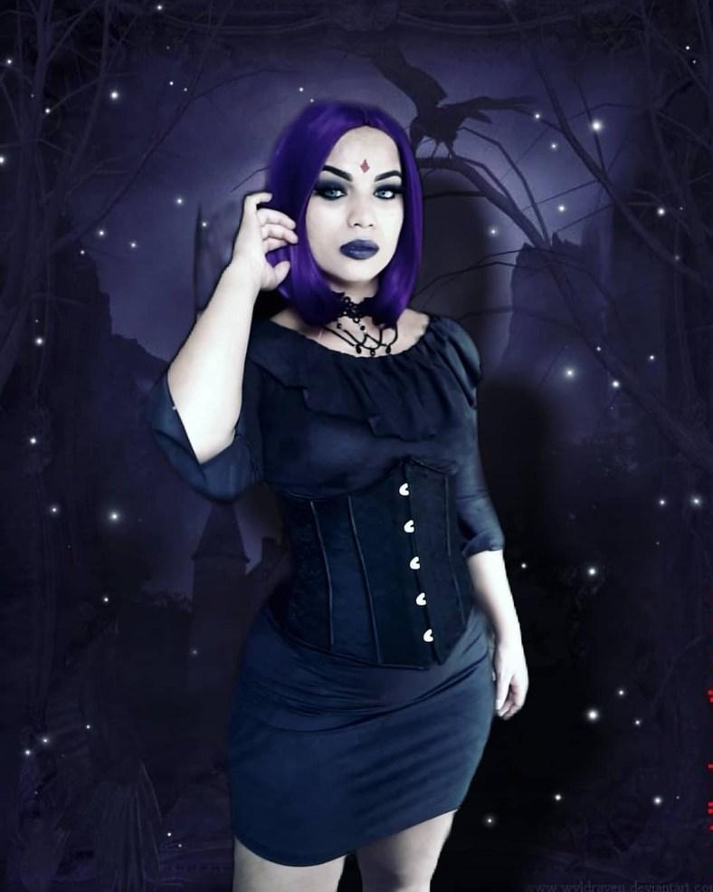 Lindo cosplay da Ravena com vestido - 02