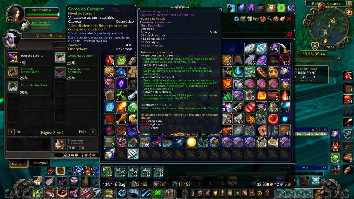 World of Warcraft - As Coroas de Flores temporárias que são vendidas pelo Valadar Stelacanto