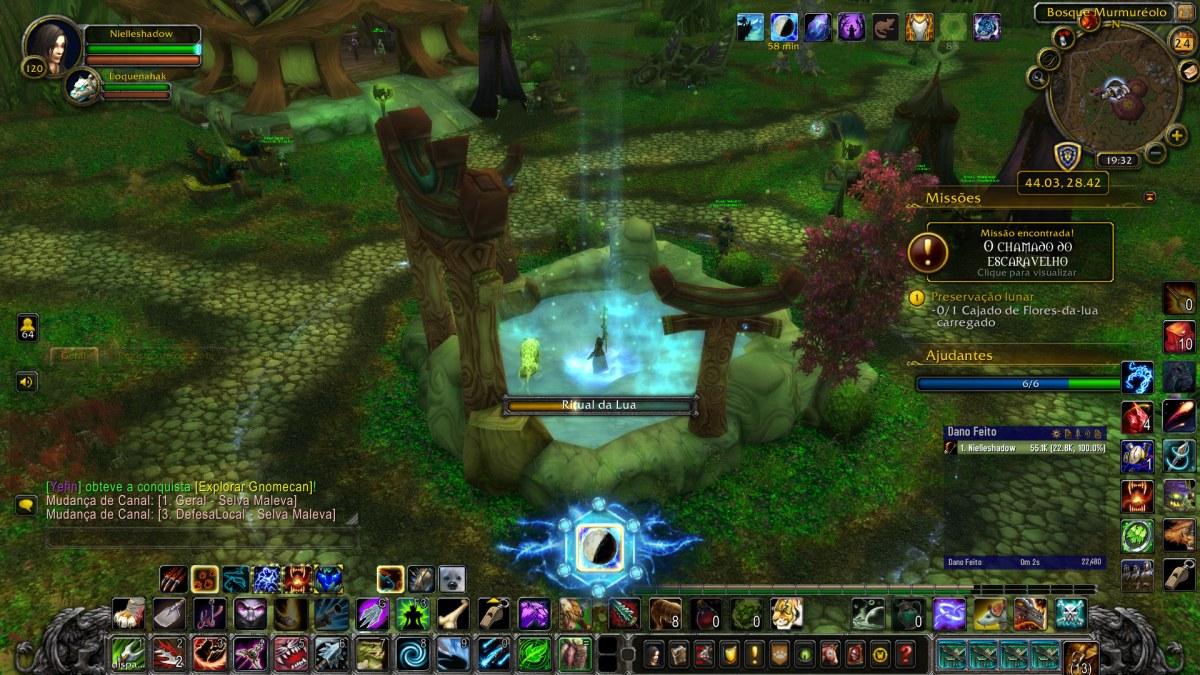 World of Warcraft - Fazendo a missão da Preservação Lunar - Benção da Lua