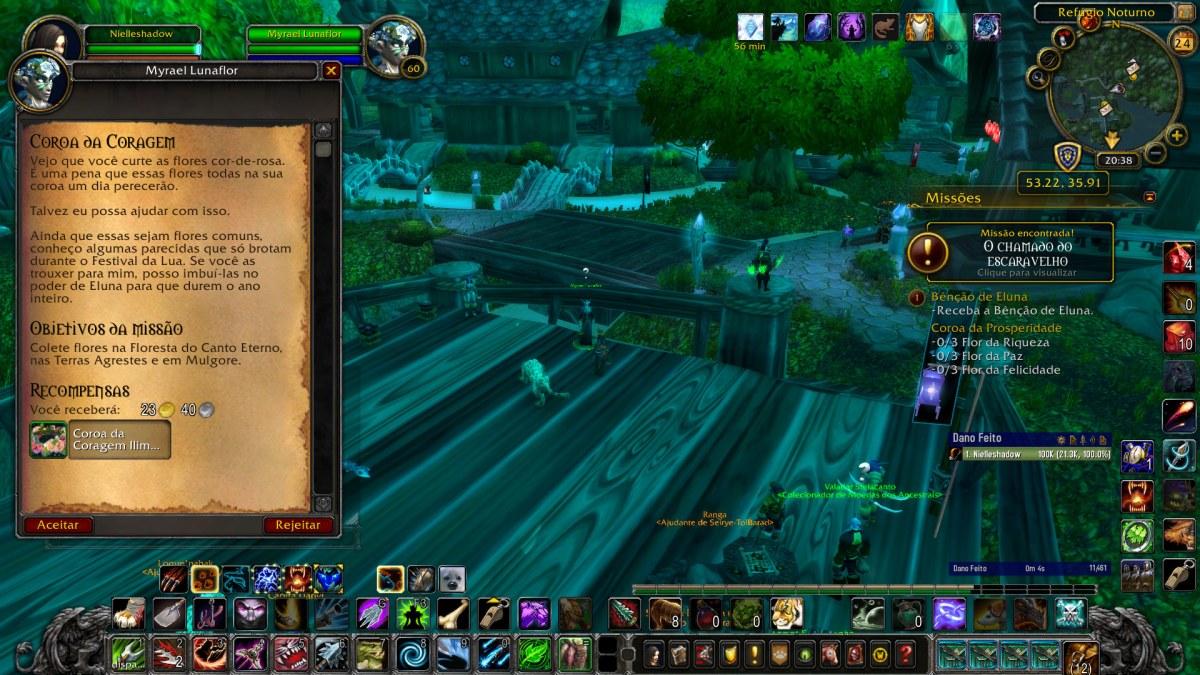 World of Warcraft - Pegando a missão da Coroa da Coragem permanente - Transmog