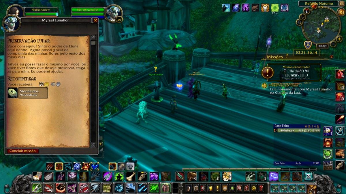 World of Warcraft - Terminando a missão da Preservação Lunar - Benção da Lua