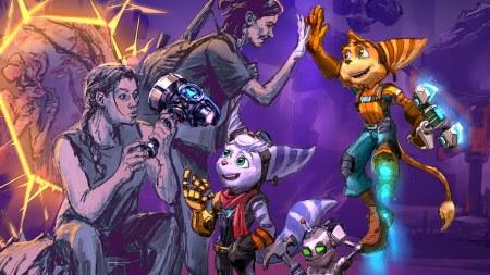 Arte Wallpaper de Ratchet and Clank com The Last of Us Part II - Capa 1
