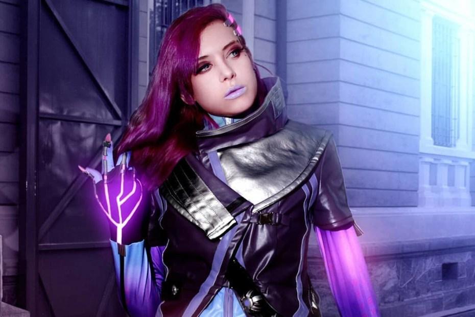Cosplay da Sombra - Overwatch - Rizzyun Capa