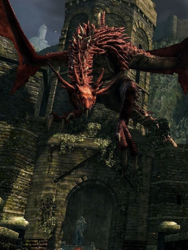 Progressão em Dark Souls Remastered: Após o dragão vermelho da ponte