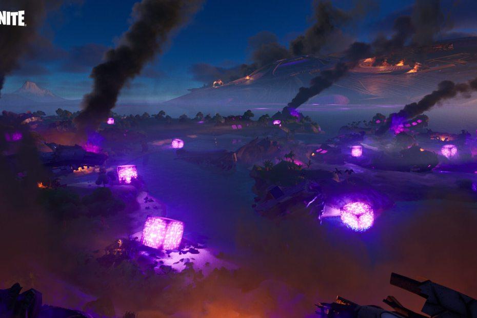 Fortnite - Cubos na ilha