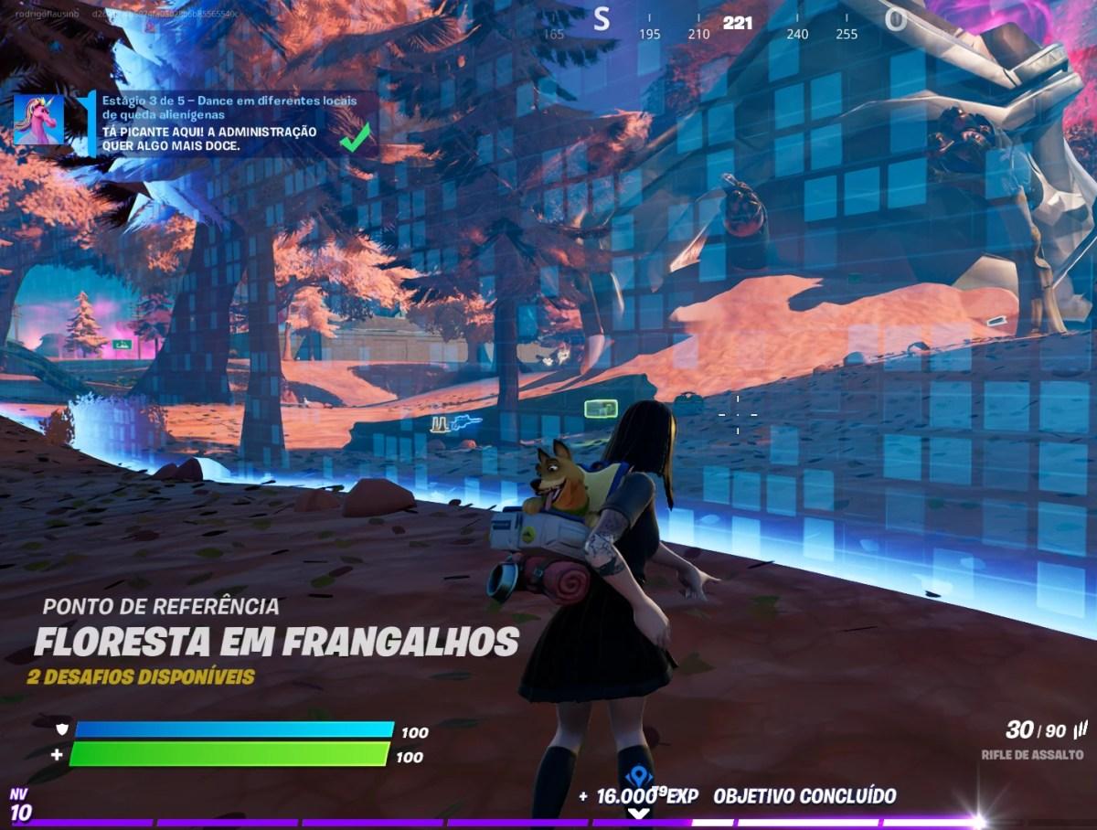 Fortnite - Dançando no local de uma queda alienígena 02
