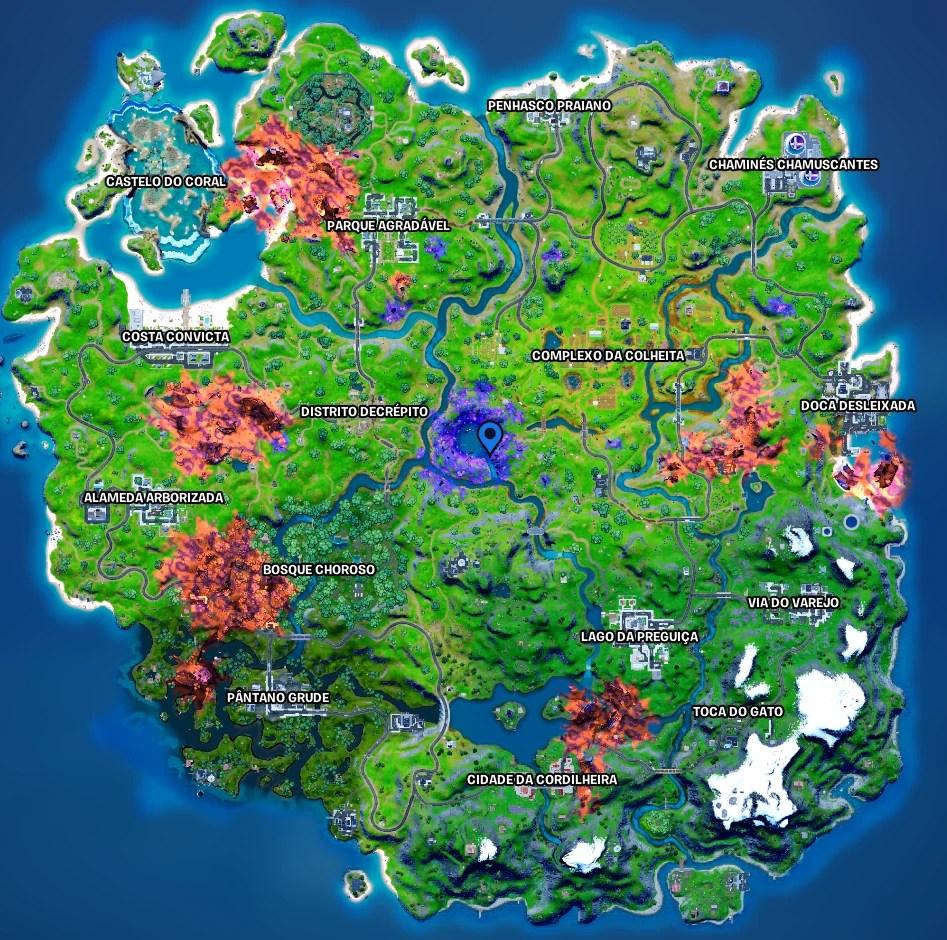 Fortnite - Mapa com o local da Devastação 01