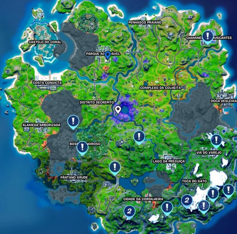 Fortnite - Mapa das Tirolesas na Temporada 8