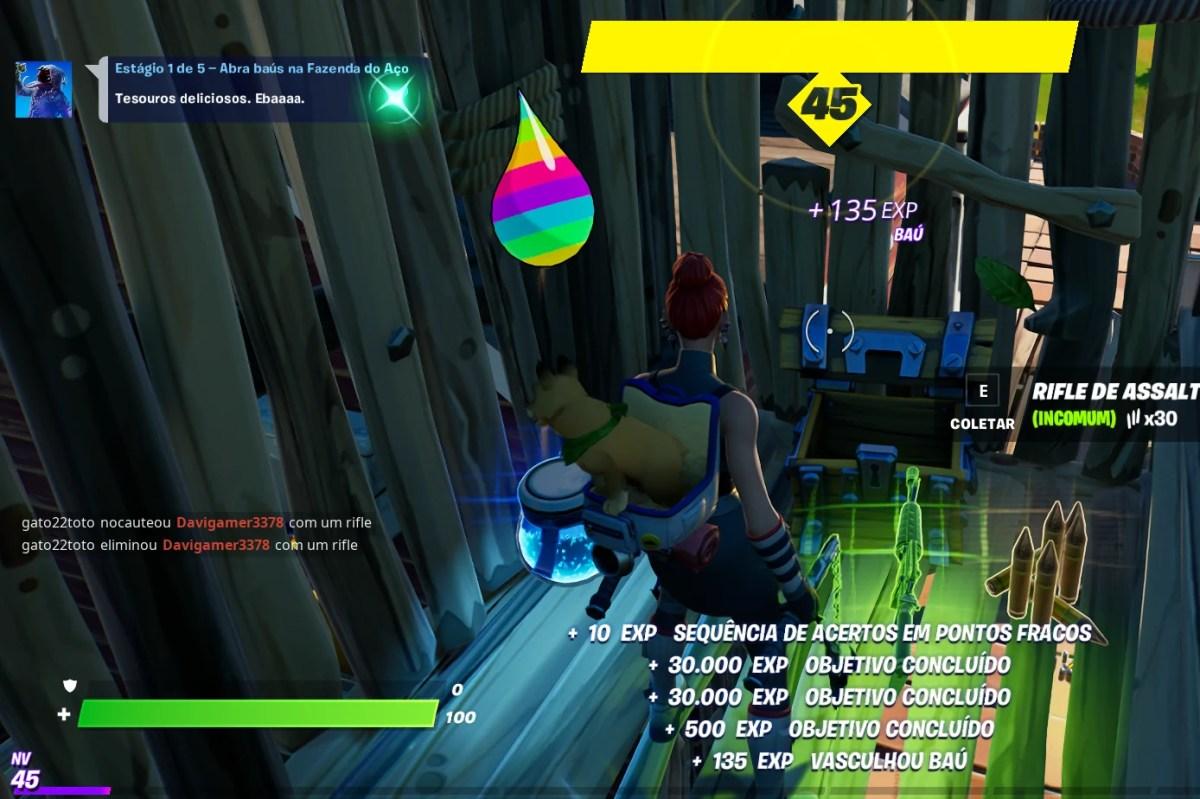 Abrindo baús na Fazenda do Aço em Fortnite 01
