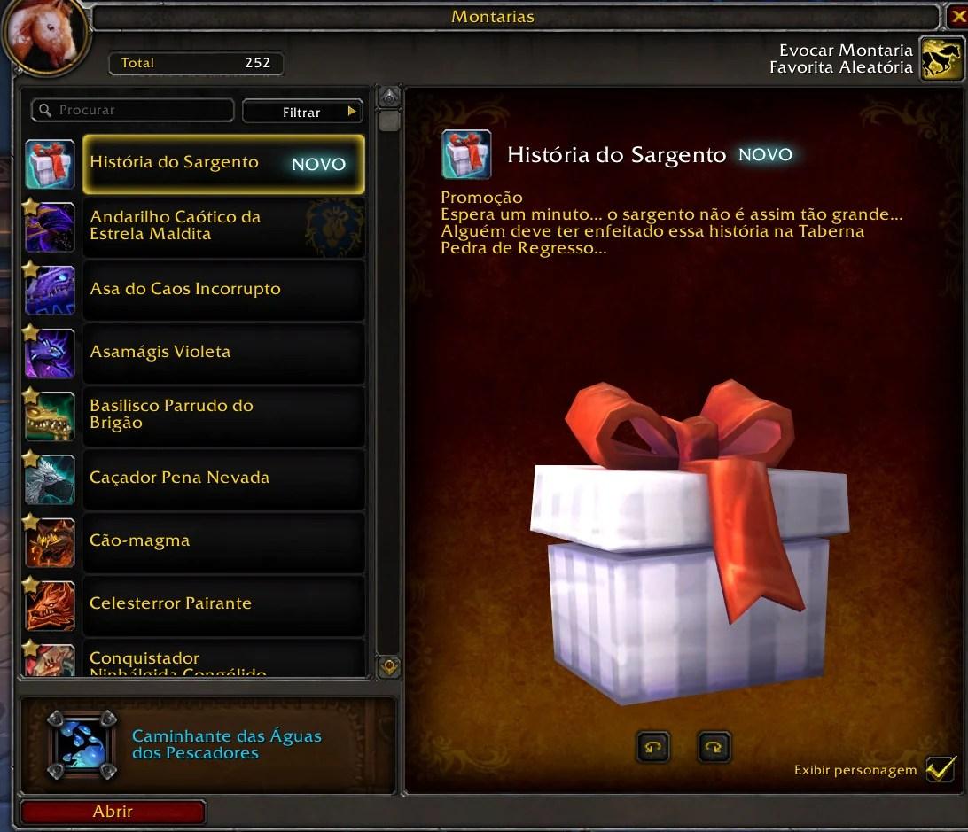 Montaria de World of Warcraft - História do Sargento 02