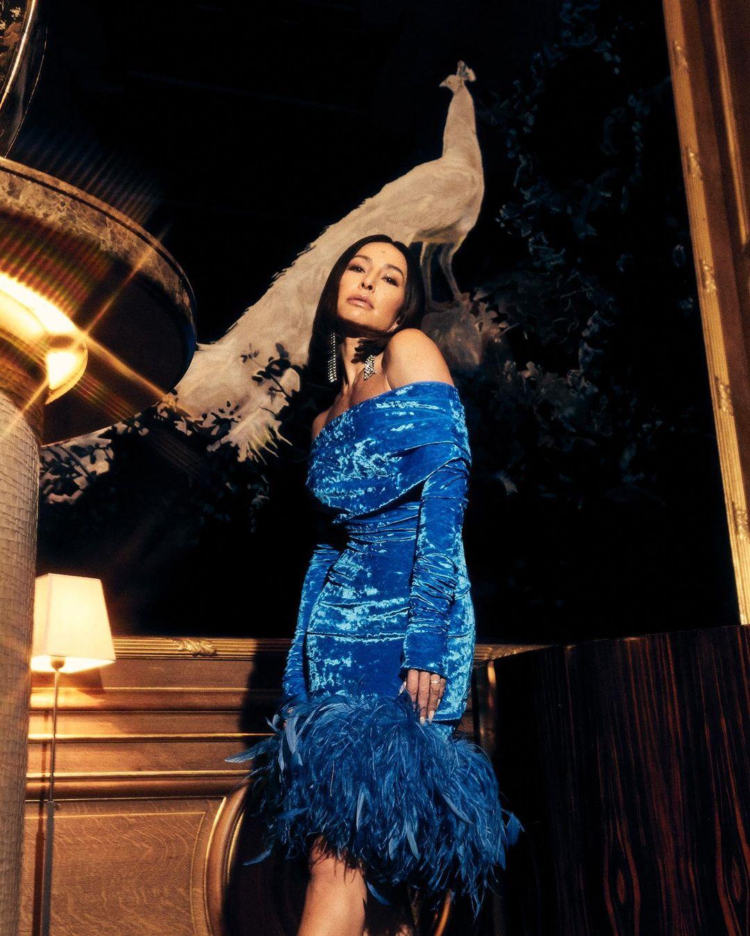 Sabrina Sato Vestido azul Glamour 02