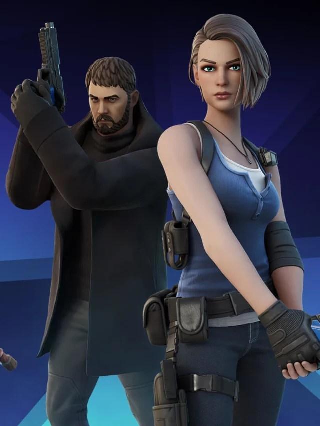 Chris Redfield e Jill Valentine (de Resident Evil) chegam ao Fortnite!