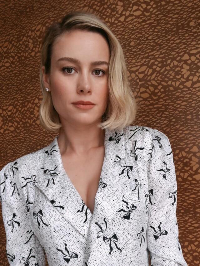 Looks de Brie Larson com vestido (da Capitã Marvel)