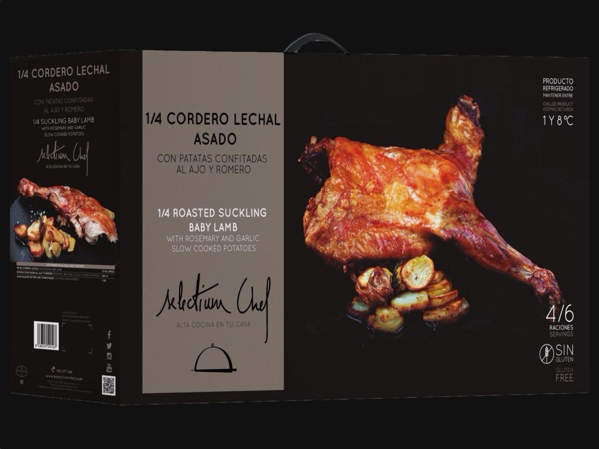 Cordero lechal asado Selectium Chef