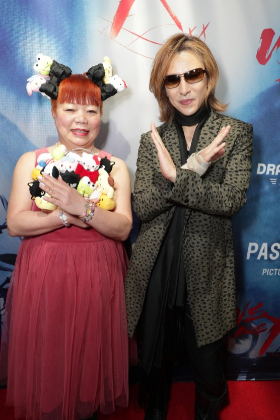 """Yuko Yamaguchi and Yoshiki seen at The Los Angeles Premiere """"We Are X"""" on Monday, October 03, 2016, in Los Angeles, CA. (Photo by Eric Charbonneau/Invision for Drafthouse Films/AP Images)"""