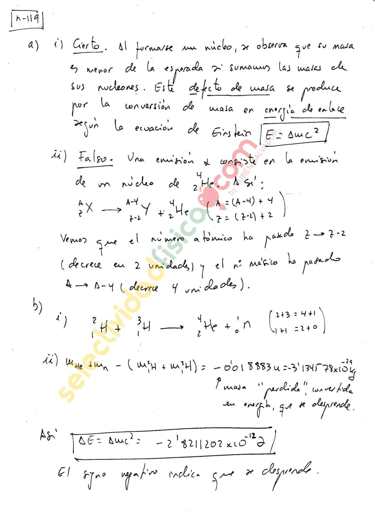 Ejercicio resuelto selectividad física nuclear-N-119
