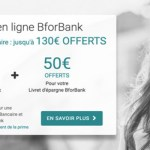 BforBank, 130€ de prime offerte jusqu'au 18 janvier 2018