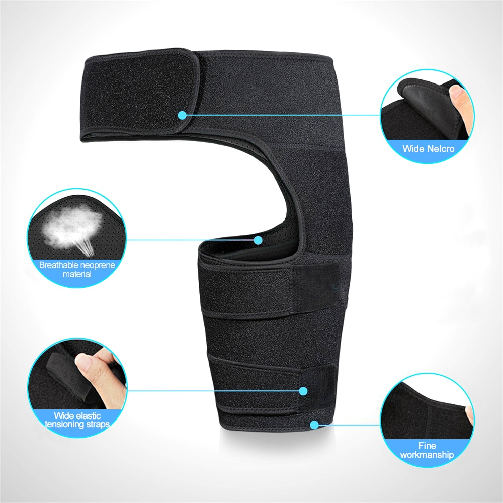 Compression Brace for Hip Thigh with Adjustable Strap Groin Support