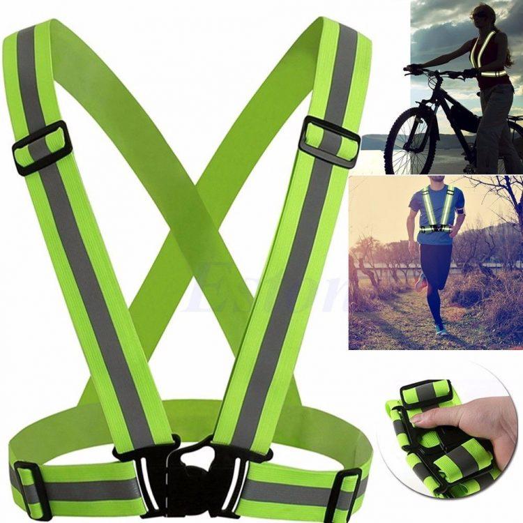 New Adjustable Reflective Safety Vest Visibility Gear Stripes