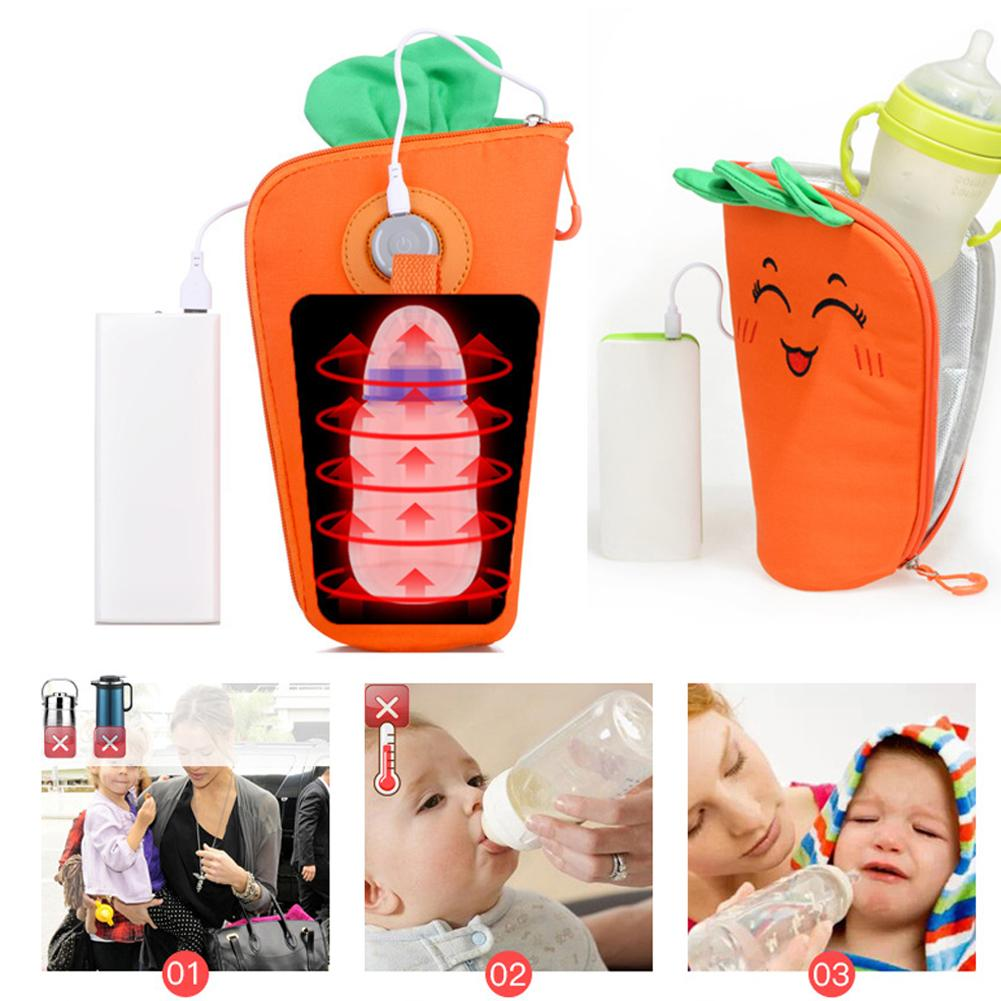 Multifunction USB Heating Milk Warmer Bag Removable Easy To Wash