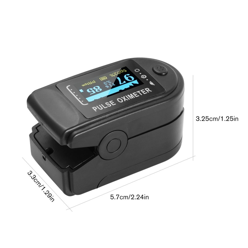 Finger Digital Pulse Oximeter Oxygen Saturation Monitoring Heart Rate Monitor