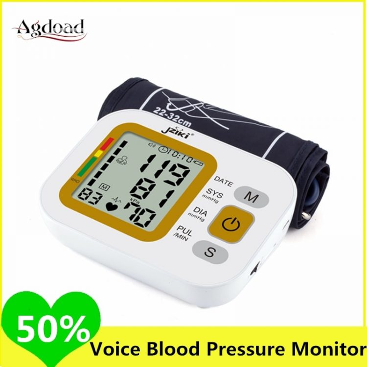 Wrist Electronic Sphygmomanometer Adult Upper Arm Blood Pressure Monitor