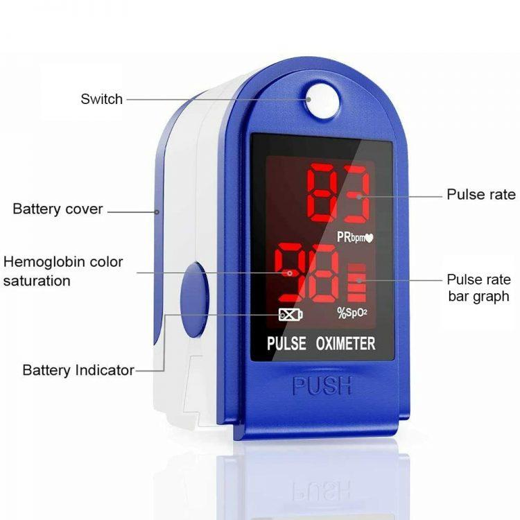 Finger Pulse Oximeter Oxygen Saturation Monitor