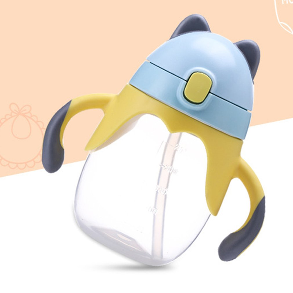 Baby Learning Drinking Cup 360 Degree Water Milk Straw Bottle
