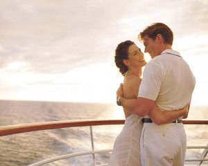 Couple on a boat deck