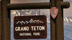 Grand Tetons National Park Sign