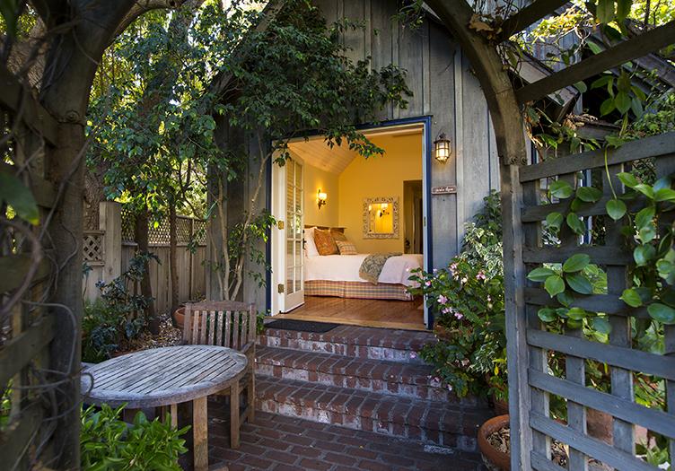 simpson house cottage lush foliage