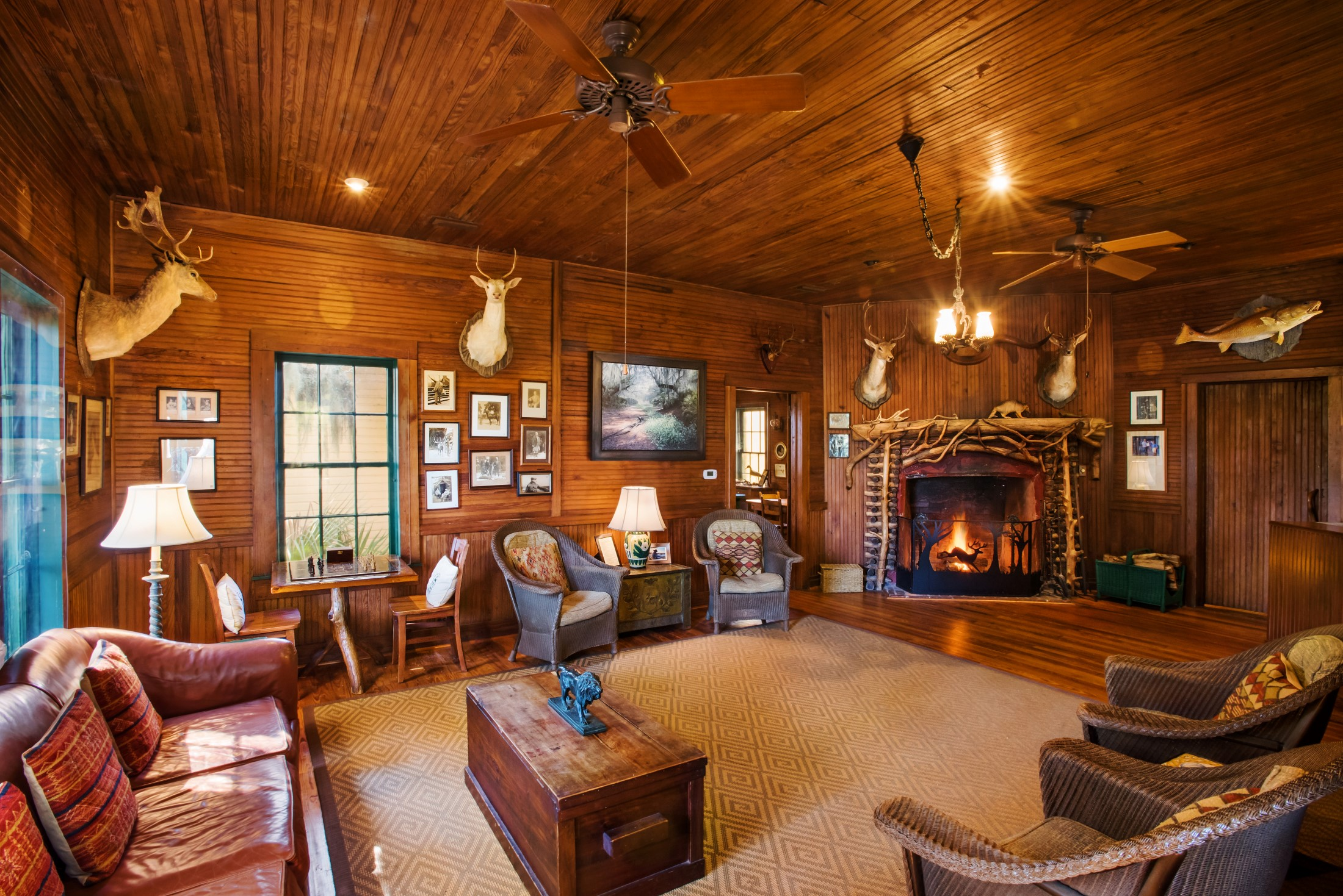 The Hunting Lodge Living Room