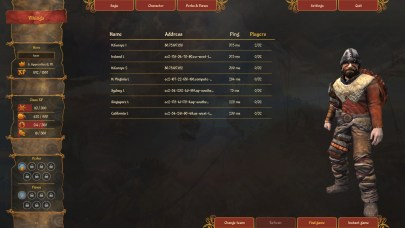 So... yeah, this is the server list. Especially as someone living in Australia, it's very... impressive.