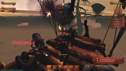 I frequently hit a glitch where I'd instantly be in third person, but hey, look at us, on an airship. Being crewmates.