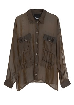 Brown Changeant Blouse.