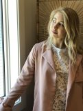 Part Two Trench Coat and Lace Top