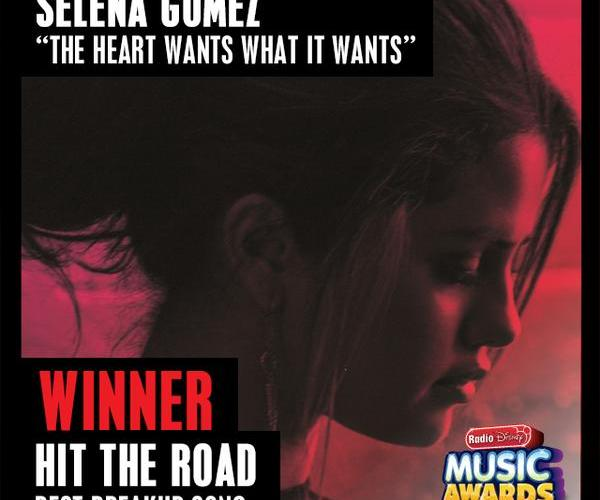 «The Heart Wants What It Wants» gana «Mejor canción de ruptura» en los RDMAs