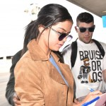 Selena Gomez arrives at LAX to fly out