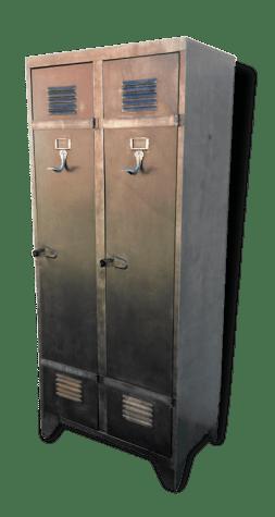 armoire vestiaire vintage metal annees 50 60